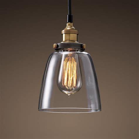 Clear Glass Cloche Filament Pendant Light Temple Webster Cloche Pendant Light