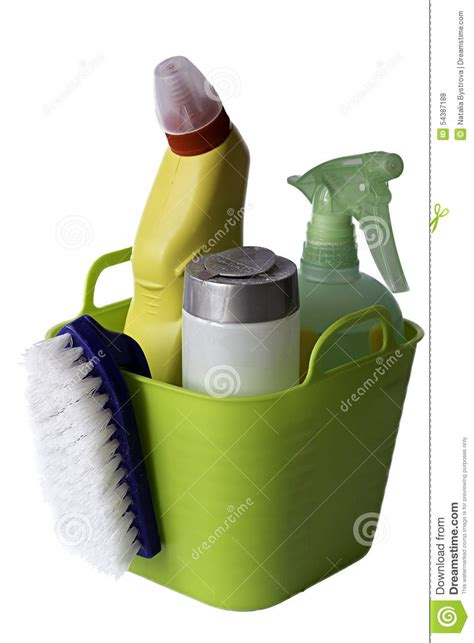 necessary things for house cleaning stock photo image of equipment housewife spray