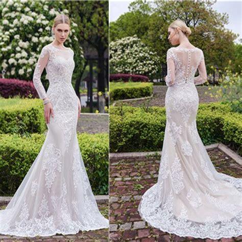 white lace wedding dresses gorgeous scoop mermaid white lace wedding dress
