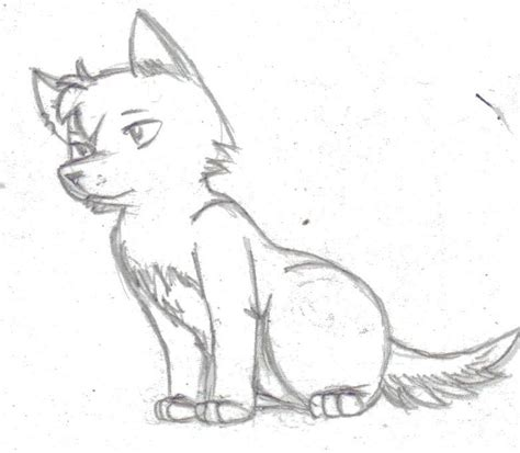 anime wolf drawings easy easy sketch wolf how to draw a wolf pup drawings