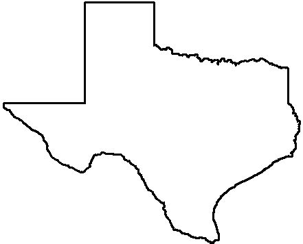 state of texas map outline outline of texas clipart best