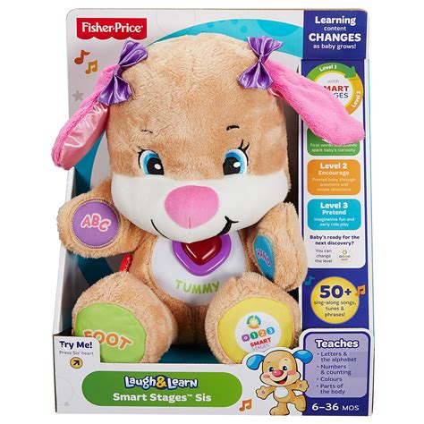 laugh and learn smart stages puppy fisher price laugh learn smart stages sis 163 20 00 hamleys for toys and