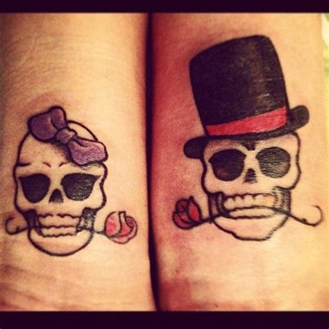 skull couple tattoos 17 best images about need a new on vine