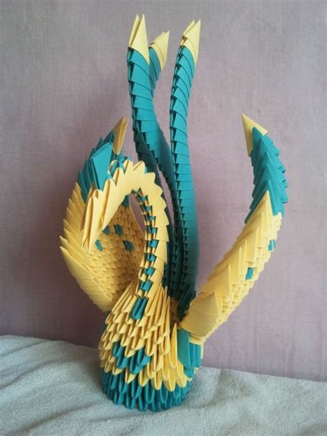 3d Origami Macaw - 41 best 3d origami birds images on origami