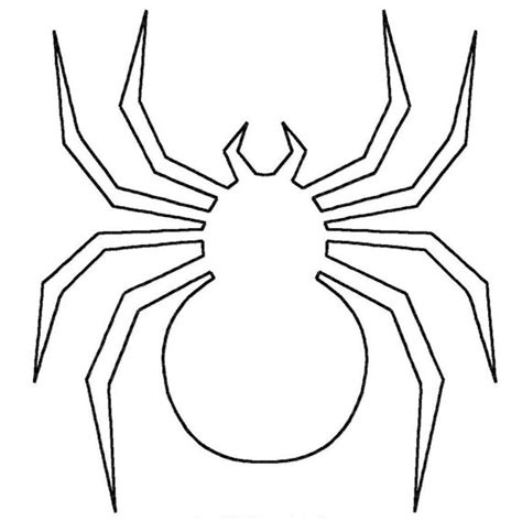 black spider coloring page spider outline coloring home