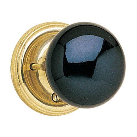 Porcelain Door Knob Sets by Privacy Set Door Knob Set Black Porcelain 2 3 8 Backset