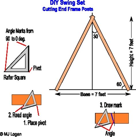 swing set angles pdf a frame porch swing set plans plans free