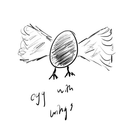 Aa Eggs Wings eggs don t fly the blurred line