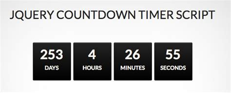 countdown html template how to make a jquery countdown timer script web design
