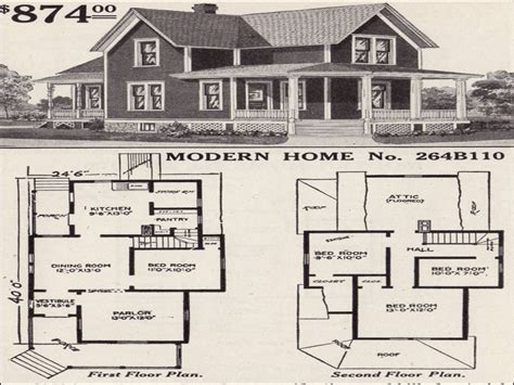 Early 1900s House Plans by Craftsman Style Homes Farmhouse Style House Floor Plans