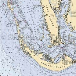 florida sanibel island pine island nautical chart decor