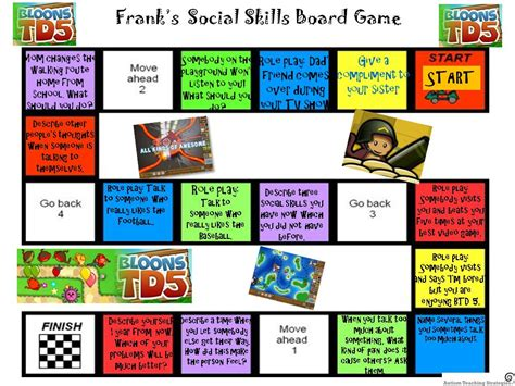 design a game board game like social skills methods for kids with autism part