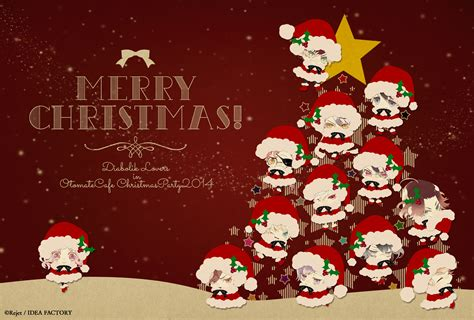 Wallpaper Christmas Lovers | happy christmas red background diabolik lovers