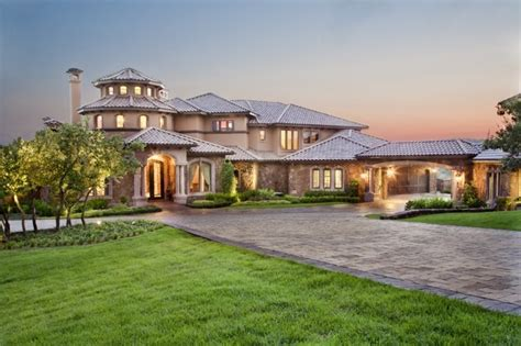 custom mansions front elevation mediterranean exterior other metro