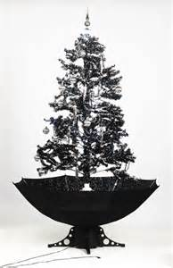 self snowing artificial christmas tree black 190 cm snow