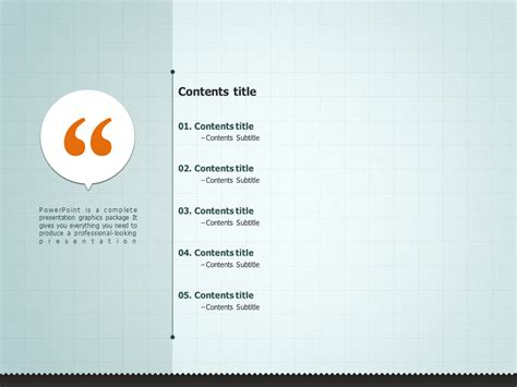 table of contents powerpoint template message ppt template goodpello