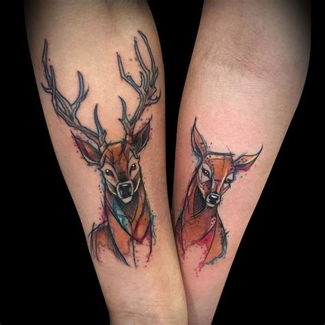 40 beautiful and inspiring deer tattoo designs tattoobloq