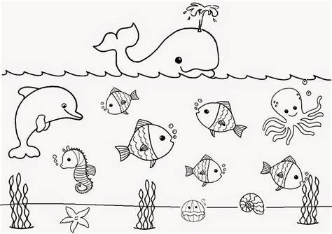 imagenes animales marinos para colorear recursos para educaci 243 n inicial dibujos de animales para