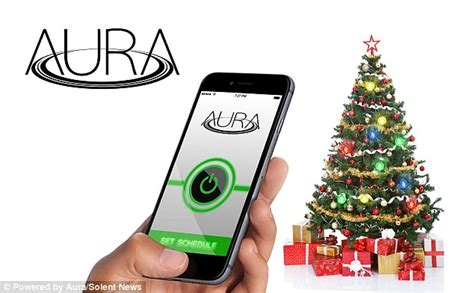 phone lights up when it rings app aura christmas tree lights are powered by magnetic field