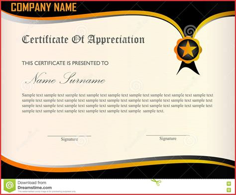 design certificate of appreciation military certificate of appreciation template free