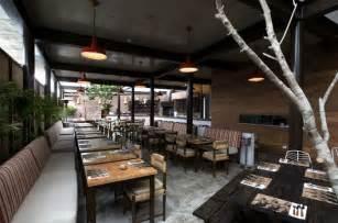 Interior Furnishing Restaurant With Large Open Garden Interiorzine