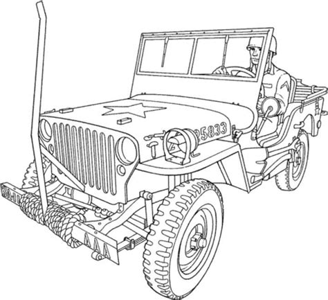coloring pages of army trucks willys mb u s army truck coloring page free printable