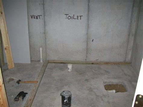 basement plumbing identifying bathroom roughin pipes
