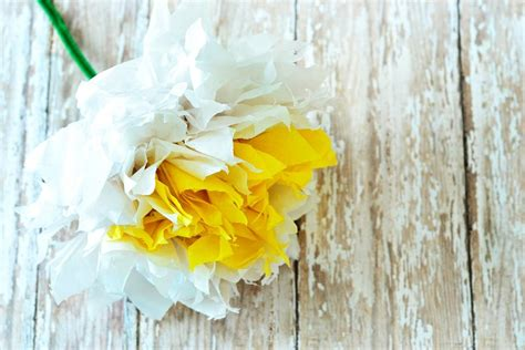 How To Make Tissue Paper Daisies - how to make paper flowers hgtv