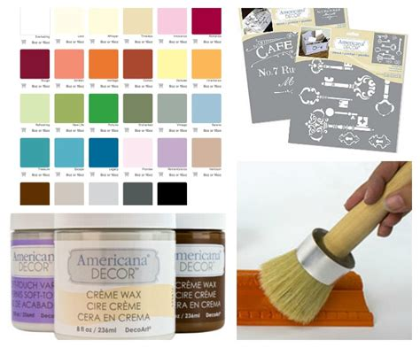 chalk paint colors americana projects and a decoart giveaway at the picket fence