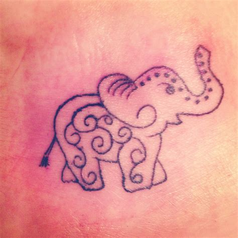simple elephant henna tattoo got this today elephant foot tattoos