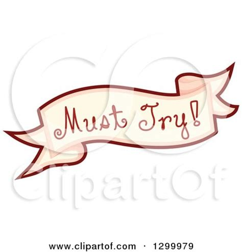 Must Try by Clipart Of A Must Try Food Banner Royalty Free Vector