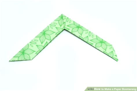 How To Make Boomerang With Paper Step By Step - 2 easy ways to make a paper boomerang wikihow
