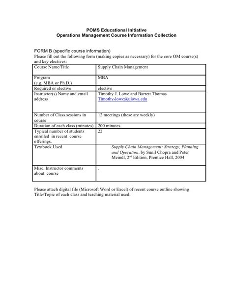 Supply Chain Management Notes For Mba by Supply Chain Management Doc