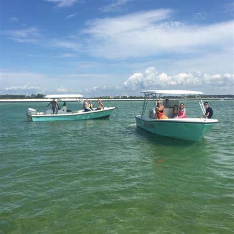 panama city beach boat rentals to shell island shell island boat rentals tours panama city beach fl