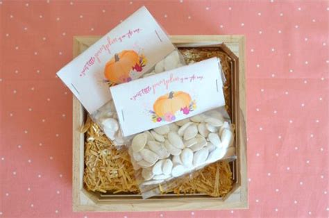 Pumpkin Baby Shower Favors by Kara S Ideas Pumpkin Fall Baby Shower Kara