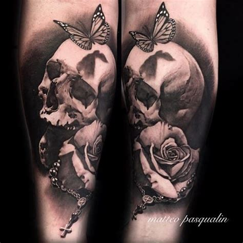 skull and rose tattoos perfect tattoo artists