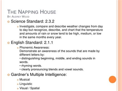 The Napping House Lesson Plans The Napping House Math Lesson Plans Home Design And Style