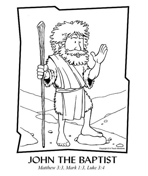 coloring pages john the baptist baptized jesus john the baptist coloring page advent pinterest 2
