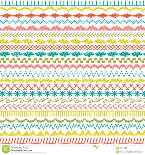Wallpaper Stitch Border Stitch Wallborder Stitch 1 29 embroidery stitches for borders makaroka