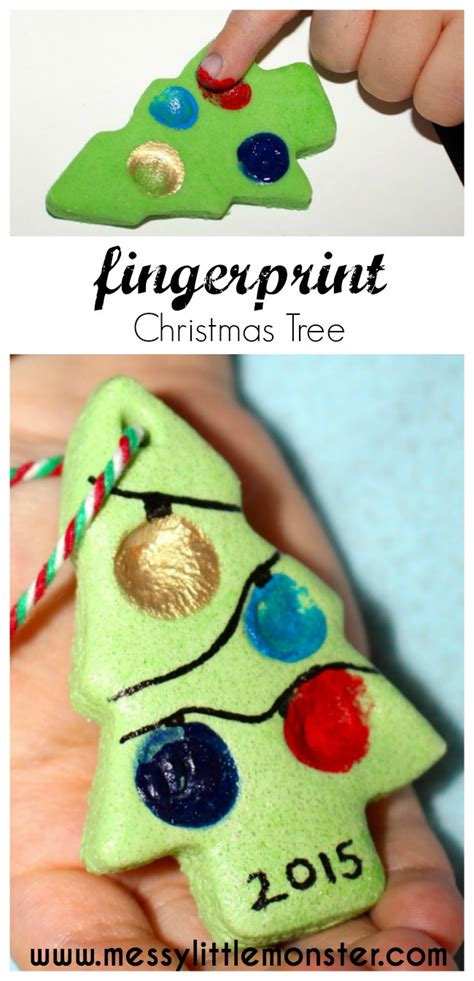 salt dough fingerprint christmas tree messy little monster