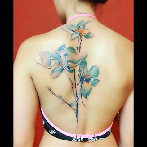 watercolor orchid tattoo best 25 watercolor orchid ideas only on