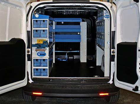 scaffali per furgoni fai da te allestimento fiat doblo con scaffali e cassetti