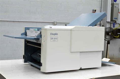 Used Paper Folding Machine - duplo df 915 paper folding machine boggs equipment