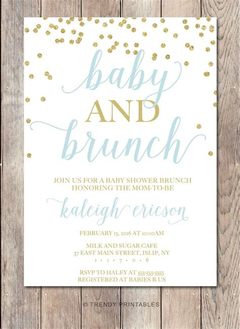 Informal Baby Shower Ideas by Baby Shower Invitation Baby Shower Brunch Baby Shower