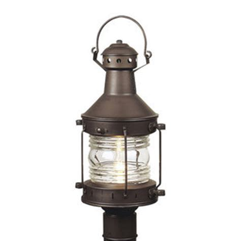 Cz1157 Nautical Post Light Post Lights Burnished Copper Ferguson Outdoor Lighting