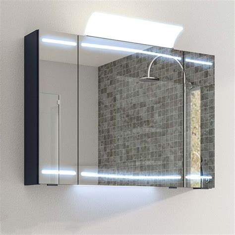 bathroom mirror with led lights and shaver socket cassca mirror cabinet led 3 door lighting with shaver