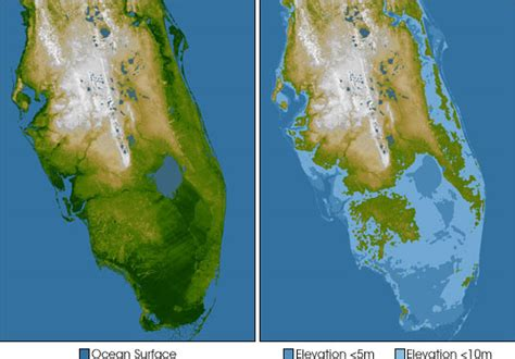 how fast is florida sinking elevation of southern florida image of the day