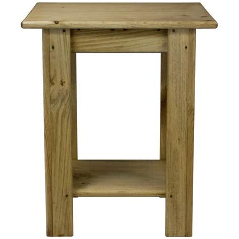 Rectangular End Table by Small Rectangular Side Table With Shelf Unfinished Wood