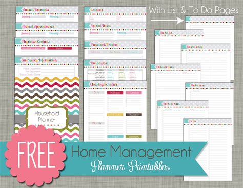 home planner free printable 6 best images of home planner free printables free