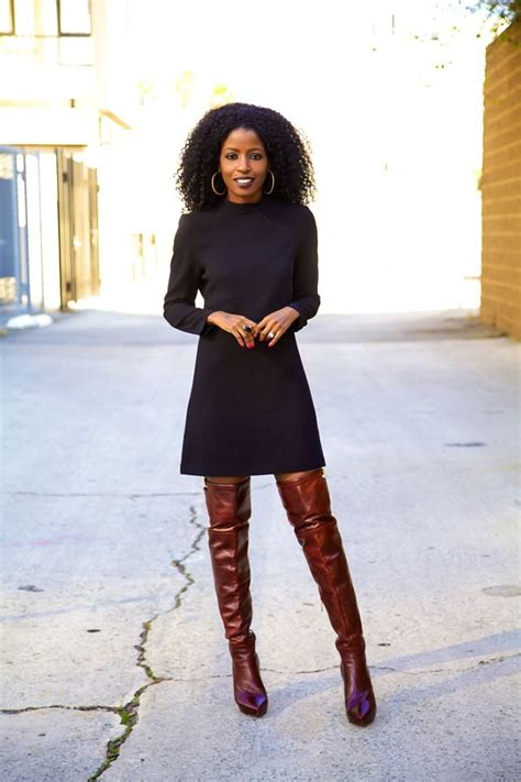 fall dresses with boots what fall boot styles are fashionistas wearing style